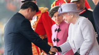 Си Цзиньпин с королевой