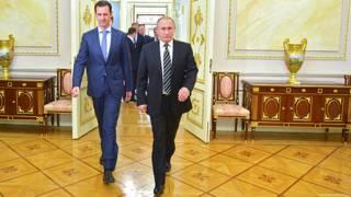 Владимир Путин и Башар Асад на встрече в Москве