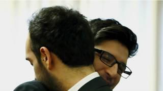Esteban y Vicente al finalizar la ceremonia de unión civil.