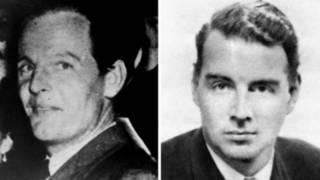 Дональд Маклейн (слева) и Гай Берджес