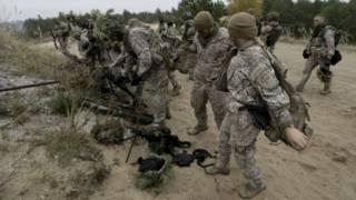 Солдаты армии Латвии