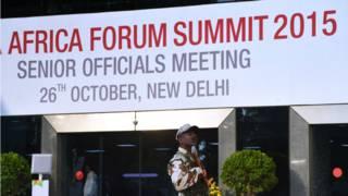 印度非洲峰會會場。