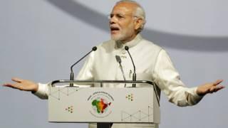 भारत-अफ्रीका फोरम शिखर सम्मलेन को संबोधित करते प्रधानमंत्री नरेंद्र मोदी