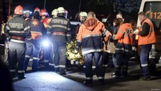 रोमानिया में आग