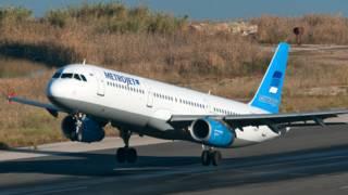 Архивное фото разбившегося самолета