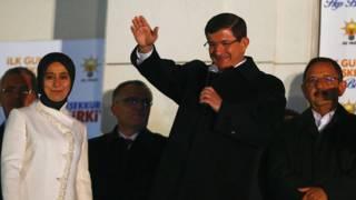 El primer ministro Ahmet Davutoglu
