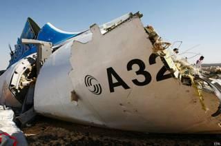 обломки А321 на Синае