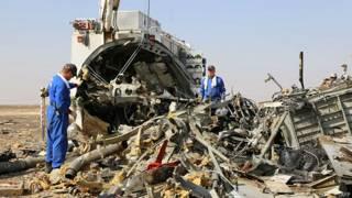 Avião russo no Egito (AFP)