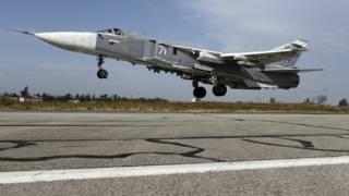 Самолет Су-24 в Сирии