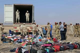 Российские и египетские дознаватели на месте катастрофы