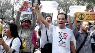 Biểu tình phản đối Tập Cận Bình ở Việt Nam