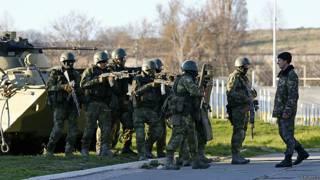Бельбек, Крым, российские солдаты