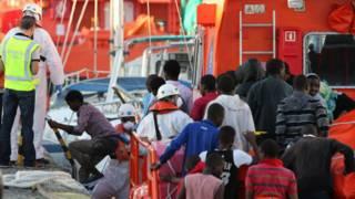 Мигранты направляются в Европу