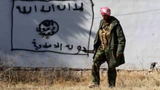 Курдский солдат в Синджаре