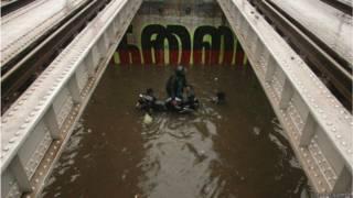 चेन्नई में बारिश के बाद हालात