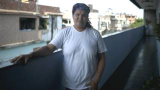 Gilmara Cunha na favela da Maré | Foto: Fabio Teixeira