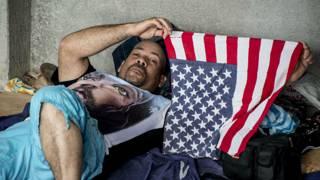 Migrante cubano en la frontera entre Costa Rica y Nicaragua