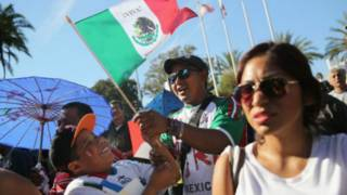 Protesta de mexicanos en Los Angeles, California