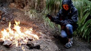 Негаснущий огонь в Новой Зеландии