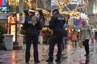 Полиция на рынке в Эссене