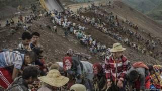 оползень в Мьянме