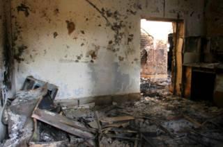Разрушенная больница в Кундузе