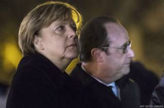 Angela Merkel ve François Hollande