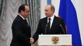 ရုရှားနဲ့ပြင်သစ် သမ္မတတို့ဆွေးနွေး