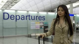林耶凡在香港機場