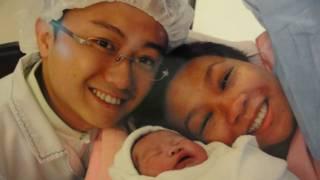 林錦華、丈夫及初生女兒