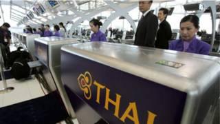 Quầy check in của Thai Airways tại Bangkok
