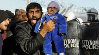 Мигранты на греческой границе