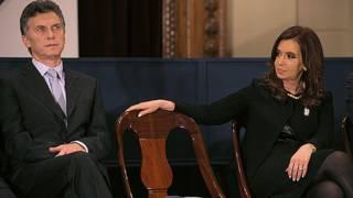 Cristina Fernández y Mauricio Macri en una foto de archivo