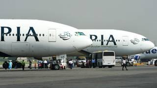 پی آئی اے کے طیارے