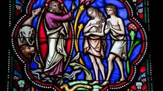 Vitral de Adán y Eva