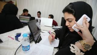 沙特阿拉伯其中一名女性候選人的競選總部