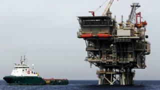 Израильская газовая платформа