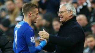 Vardy and his manager, Ranieri
