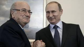 Зепп Блаттер и Владимир Путин