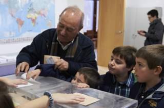 На избирательном участке в Мадриде