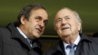 Platini y Blatter
