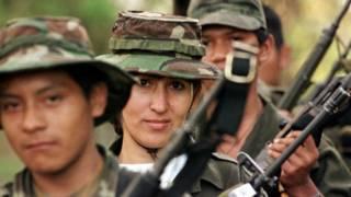 Guerrilleros de las FARC, foto de archivo