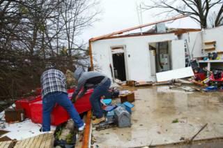 Разрушенный дом в Техасе