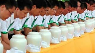 Competição de cremação na China | AFP