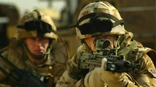 Британские войска в Басре, Ирак, 2005 г.