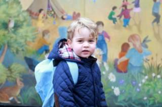 Принц Джордж, первый день в детском саду