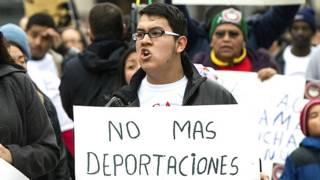 Protesta de migrantes