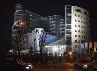 Здание польского государственного телевидения