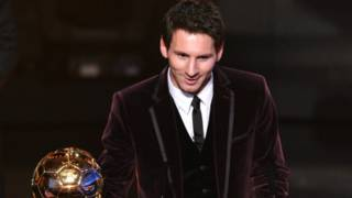 Lione Messi yakira agashimwe Ballon d'or