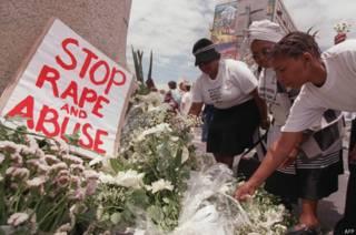 दक्षिण  अ़फ़्रीका, बलात्कार का विरोध